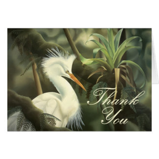 "Egret ""Thank You"" Card"