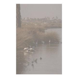 Egret Wetlands Migration Stationery