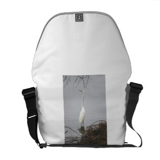 Egret, Windmill Lake Courier Bag