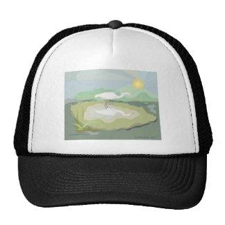 Egret  With Sunrise Trucker Hat