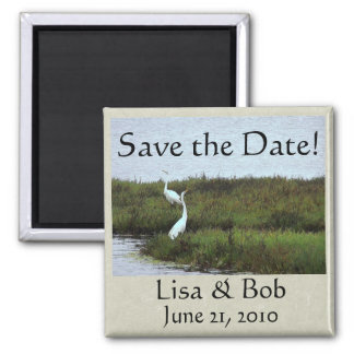 Egrets' Courtship Save the Date Magnet