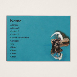 Egrets Herons Birds Wildlife Animals Wetlands Business Card