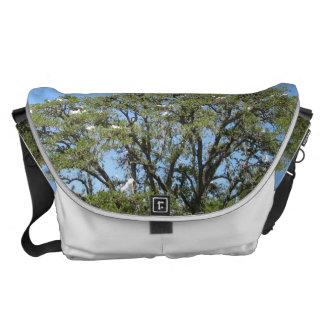 Egrets in a Tree Large Messenger Bag