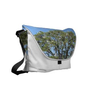 Egrets in a Tree Rickshaw Messenger Bag