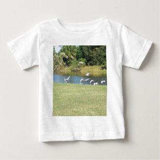 Egrets in Flight Baby T-Shirt