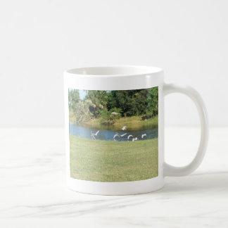 Egrets in Flight Coffee Mug