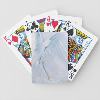 Egrets in love. Birds in courtship Bicycle Poker Cards