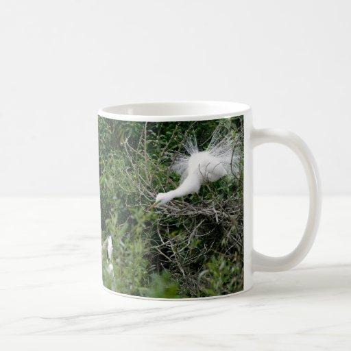 Egrets in Woods Mug