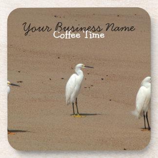 Egrets Loitering on Beach Coaster