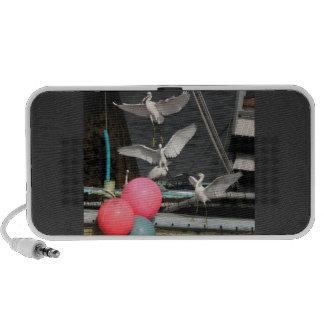 Egrets & Ocean Barge Doodle Speaker