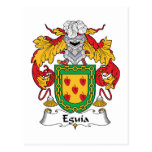 Eguia Family Crest Post Card