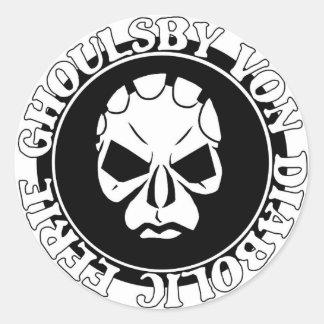 EGVD Face Logo Classic Round Sticker