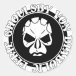 EGVD Face Logo Round Stickers