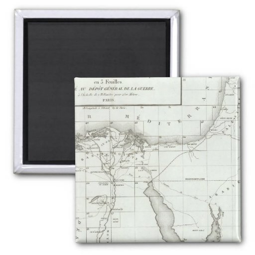 Egyopt and Palestine 2 Inch Square Magnet