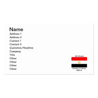 Egypt 18Days CUART Business Card
