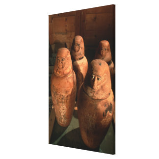 Egypt, 26th dynasty Canopic jars found in Abu Canvas Print