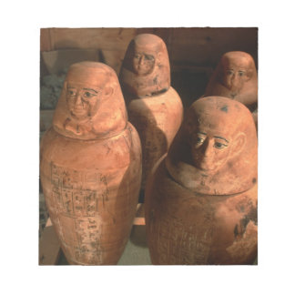 Egypt, 26th dynasty Canopic jars found in Abu Memo Note Pad