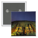 Egypt, Abu Simbel, Colossal figures of Ramesses 2 Inch Square Button