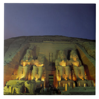 Egypt, Abu Simbel, Colossal figures of Ramesses Ceramic Tile
