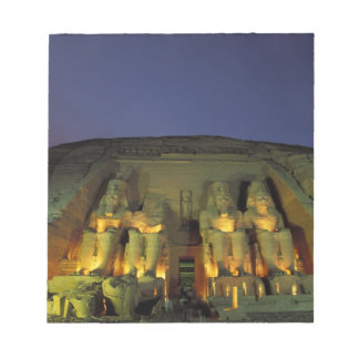 Egypt, Abu Simbel, Colossal figures of Ramesses Notepad