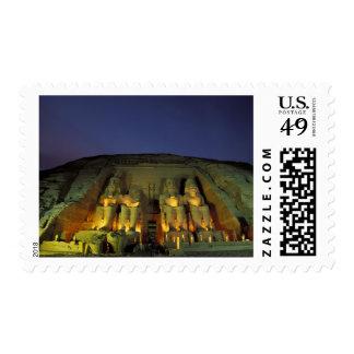 Egypt, Abu Simbel, Colossal figures of Ramesses Stamp