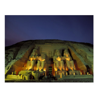 Egypt, Abu Simbel, Colossal figures of Ramesses Postcard