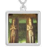 Egypt, Abu Simbel, Statue of Ramesses II, Necklace