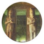 Egypt, Abu Simbel, Statue of Ramesses II, Dinner Plate