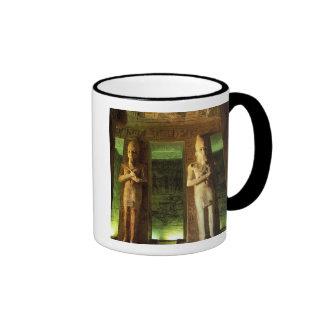 Egypt, Abu Simbel, Statue of Ramesses II, Ringer Coffee Mug