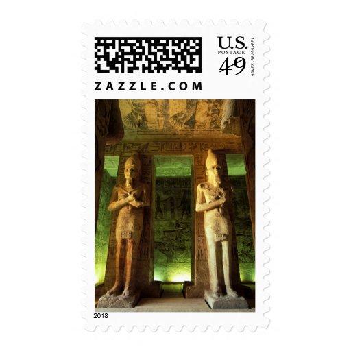Egypt, Abu Simbel, Statue of Ramesses II, Stamps