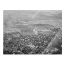 Egypt. Air view. Edfu. Temple of Horus circa 1936 Postcard