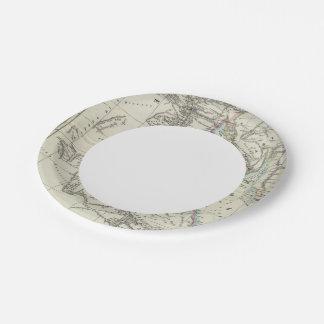 Egypt and Saudi Arabia 7 Inch Paper Plate