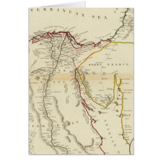 Egypt, Arabia, Palestine Card