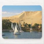 Egypt, Aswan, Nile River, Felucca sailboats, 2 Mouse Pads
