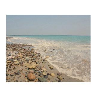 Egypt Beach Rocks and Sea Wood Wall Decor