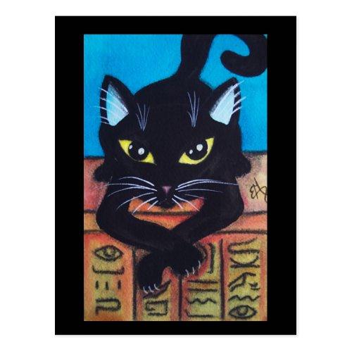 Egypt Black Cat Postcard