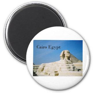 Egypt Cairo Giza Sphinx-2 (St.K) 2 Inch Round Magnet