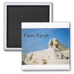Egypt Cairo Giza Sphinx-2 (St.K) 2 Inch Square Magnet