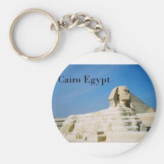 Egypt Cairo Giza Sphinx-2 (St.K) Basic Round Button Keychain