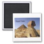Egypt Cairo Giza Sphinx (St.K) 2 Inch Square Magnet