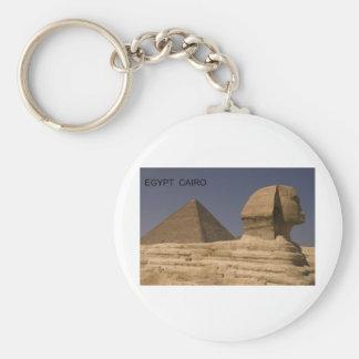 Egypt Cairo Giza Sphinx (St.K) Basic Round Button Keychain