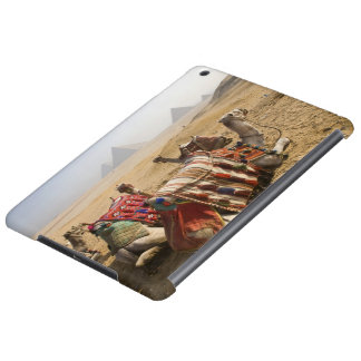 Egypt, Cairo. Resting camels gaze across the 2 iPad Air Covers