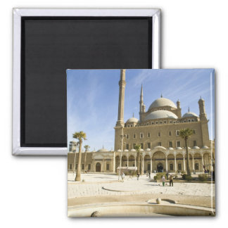 Egypt, Cairo. The imposing Mohammed Ali Mosque 2 Inch Square Magnet