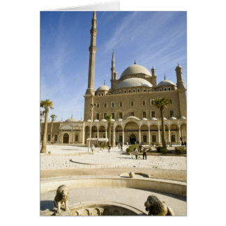 Egypt, Cairo. The imposing Mohammed Ali Mosque Card