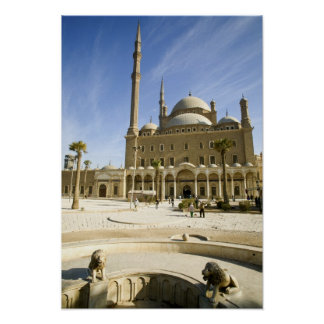 Egypt, Cairo. The imposing Mohammed Ali Mosque Poster
