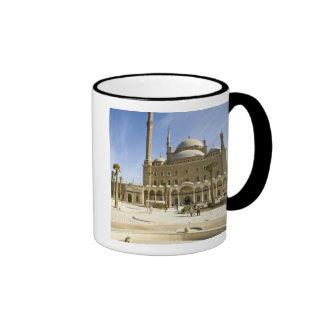 Egypt, Cairo. The imposing Mohammed Ali Mosque Ringer Mug