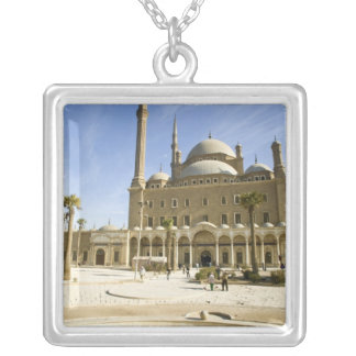 Egypt, Cairo. The imposing Mohammed Ali Mosque Silver Plated Necklace