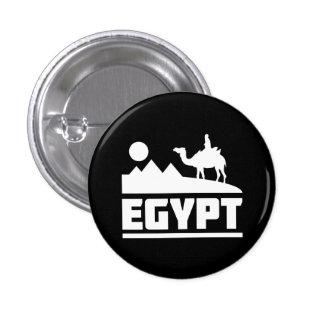 Egypt Camel Silhouette Pinback Button