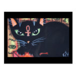 Egypt Cat With Ankh Postcards
