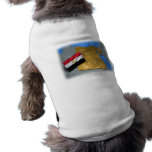 Egypt country with its flag pet tshirt